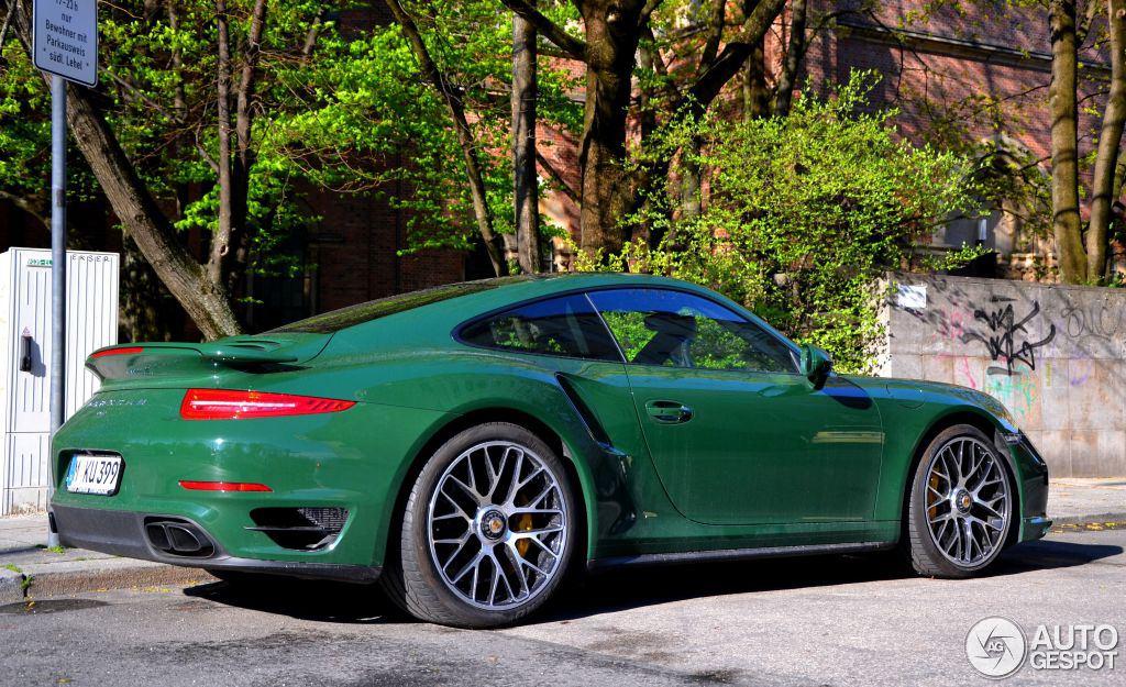 Uber Cool Porsche 991 Turbo In British Racing Green