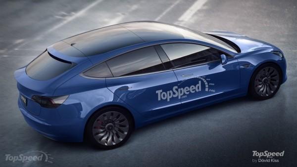 Tesla Model 3 Hatchback-render
