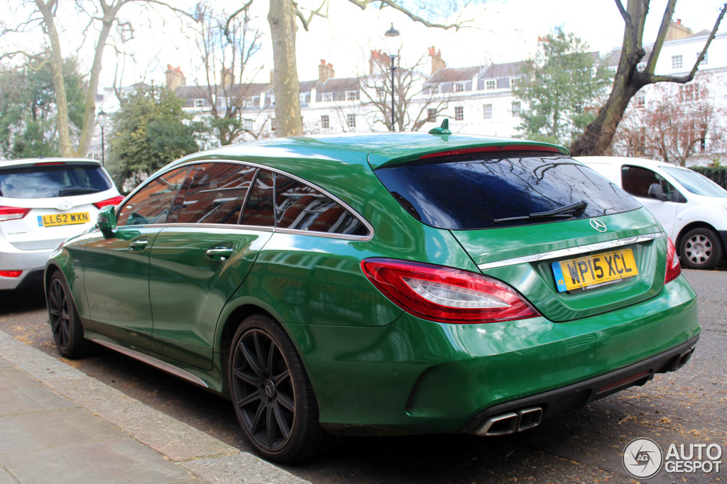 auto art green mercedes cls63 amg shooting brake. Black Bedroom Furniture Sets. Home Design Ideas