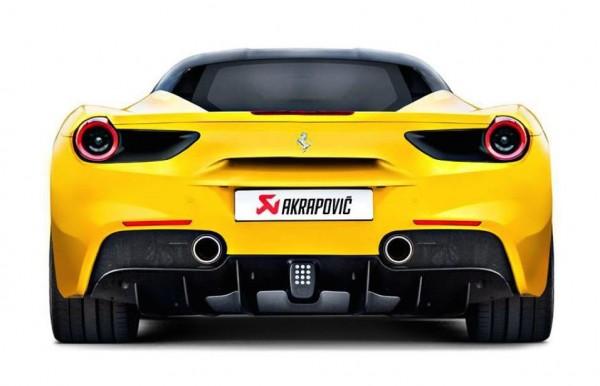 Akrapovic Ferrari 488 GTB detail 1 600x386 at Akrapovic Ferrari 488 GTB Exhaust System Detailed