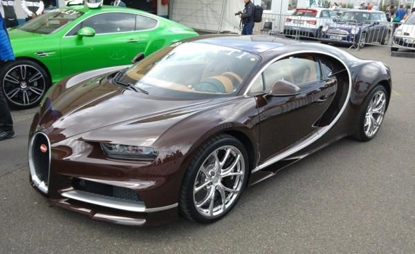 Brown Bugatti Chiron 1 600x368 at Brown Bugatti Chiron Sighted at the Nurburgring
