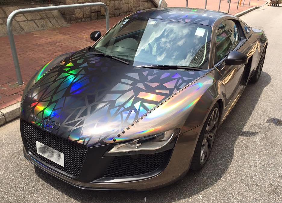 Black Holographic Car Paint