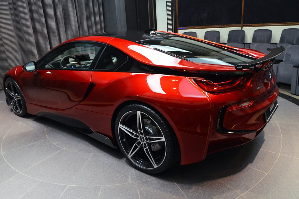 One Off Lava Red Bmw I8 From Abu Dhabi