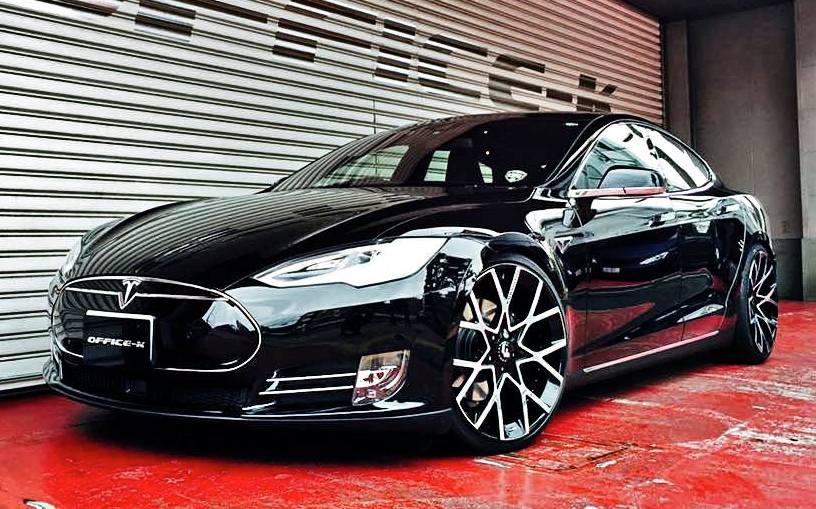 Office K Tesla Model S Gets Forgiato Wheels