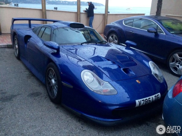 porsche 911 gt1 spotted on the street of monaco. Black Bedroom Furniture Sets. Home Design Ideas