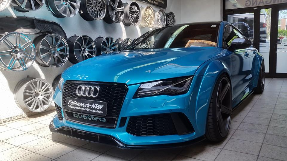 Prior Design Audi RS7 Wide Body in Atlantis Blue