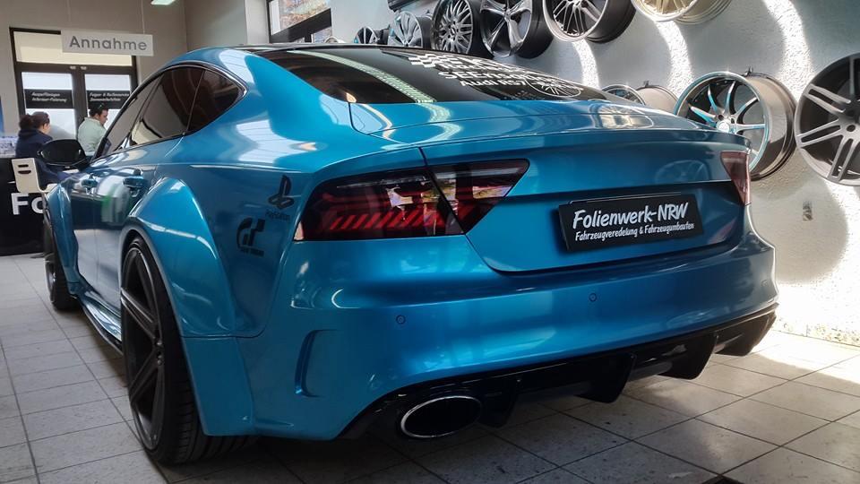 Prior Design Audi Rs7 Wide Body In Atlantis Blue