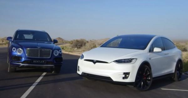 Tesla Model X v Bentley Bentayga