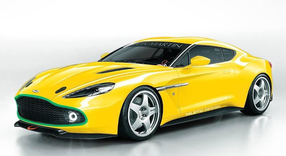 Rendering Aston Martin Vanquish Zagato N24
