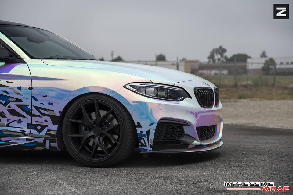 Bmw M235i With Rainbow Chrome Wrap