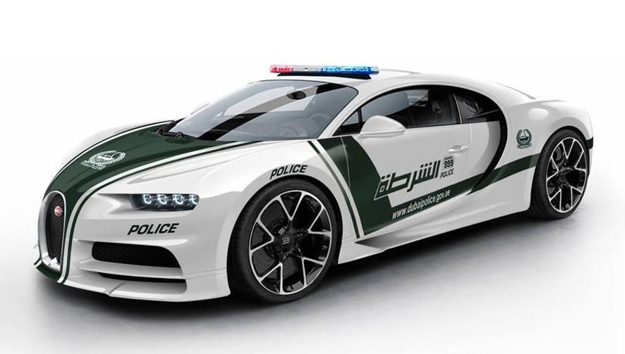 Rendering Bugatti Chiron Dubai Police Car