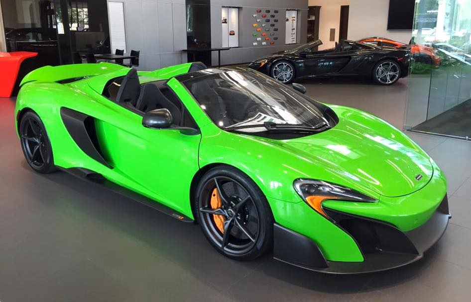 Eye Candy Mantis Green Mclaren 675lt Spider