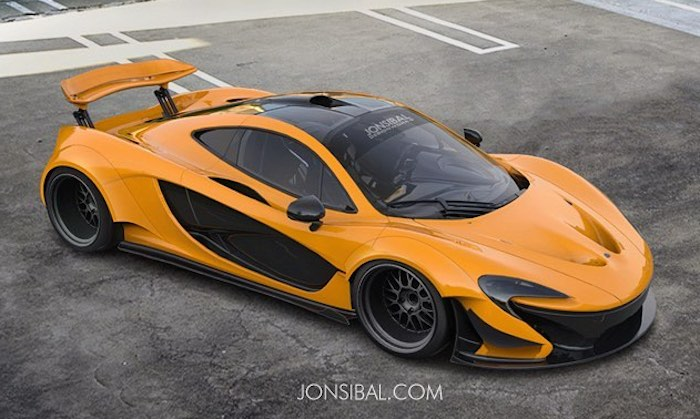 Virtual Tuning Mclaren P1 Wide Body