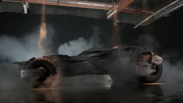 New Batmobile Jay Leno 600x337 at Jay Leno Drives the New Batmobile in Burbank