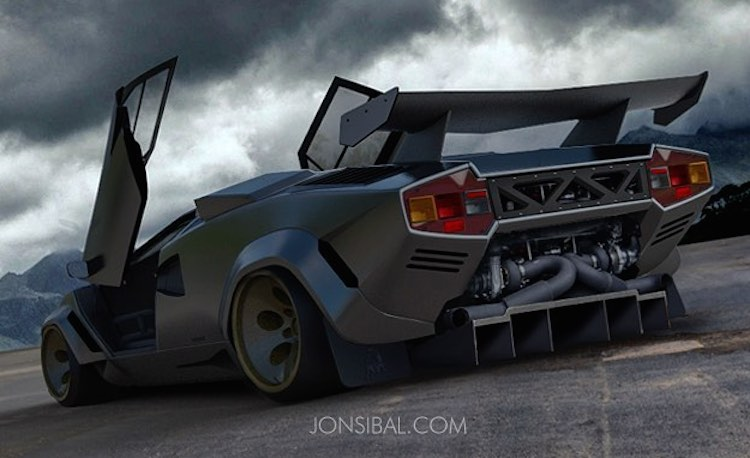 Rendering Custom Twin Turbo Lamborghini Countach