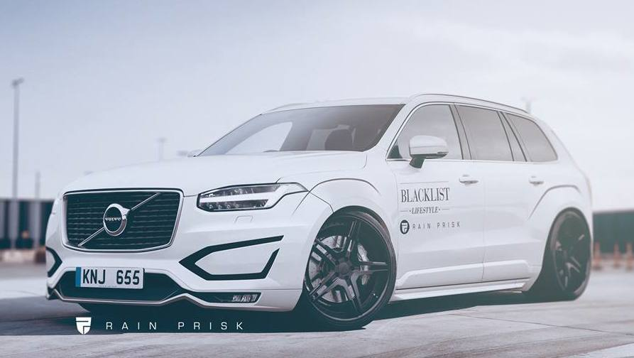 virtual tuning volvo xc90 wide body. Black Bedroom Furniture Sets. Home Design Ideas