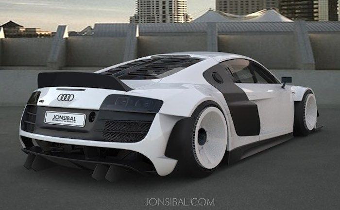 Virtual Tuning Custom Wide Body Audi R8