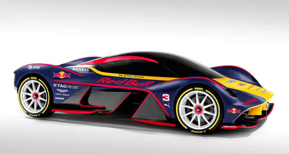 Aston Martin Am Rb 001 Looks Better In Red Bull Colors