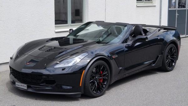 Black Corvette Z06 Convertible-0