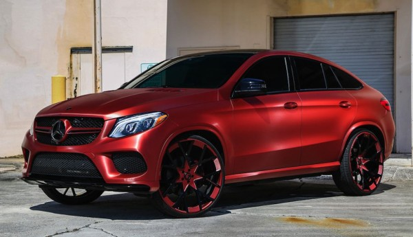 Brushed Red Mercedes GLE 1 600x345 at Brushed Red Mercedes GLE Coupe by TaTe Design