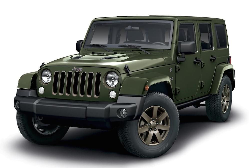 jeep wrangler 75th anniversary edition announced. Black Bedroom Furniture Sets. Home Design Ideas