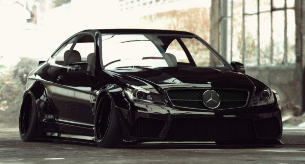 Liberty Walk Mercedes C63 Coupe-1