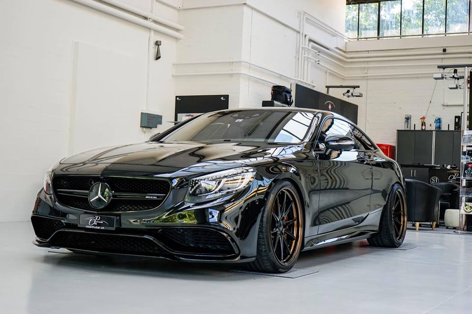 Murdered out mercedes s63 coupe by platinum cars for Platinum mercedes benz