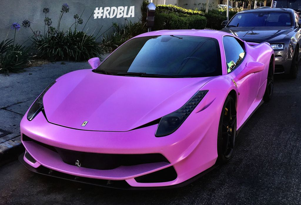 satin pink ferrari 458 italia by rdbla. Black Bedroom Furniture Sets. Home Design Ideas