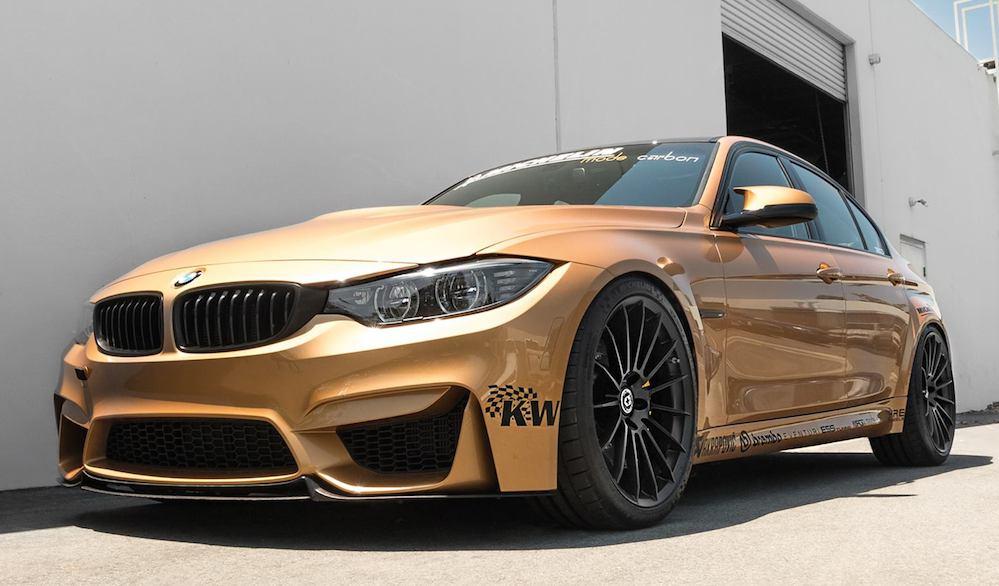 Custom Sunburst Gold Bmw M3 By Eas