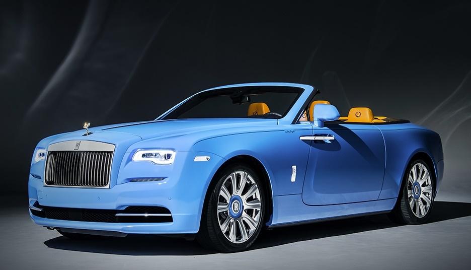 Spotlight Bespoke Blue Rolls Royce Dawn