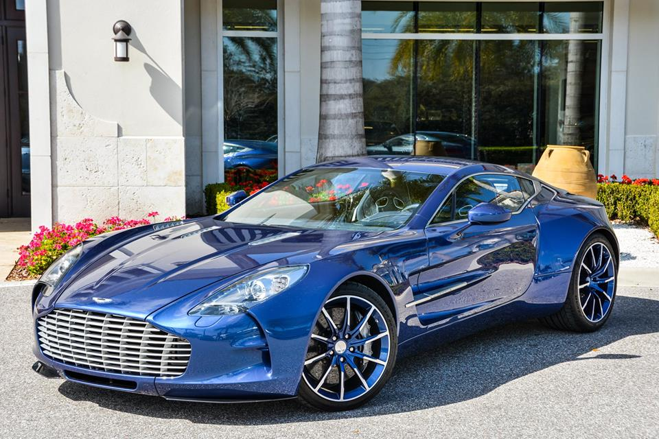 eye candy  cobalt blue aston martin one