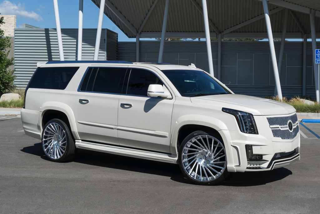 another tricked out caddy escalade by forgiato. Black Bedroom Furniture Sets. Home Design Ideas