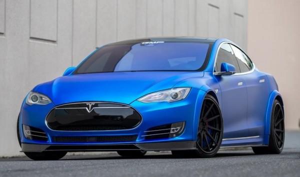 Matte Blue Tesla Model S-0