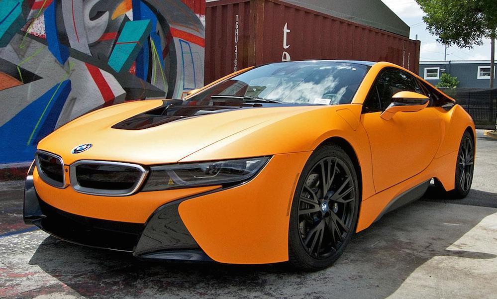 Matte Orange Bmw I8 Looks Candylicious