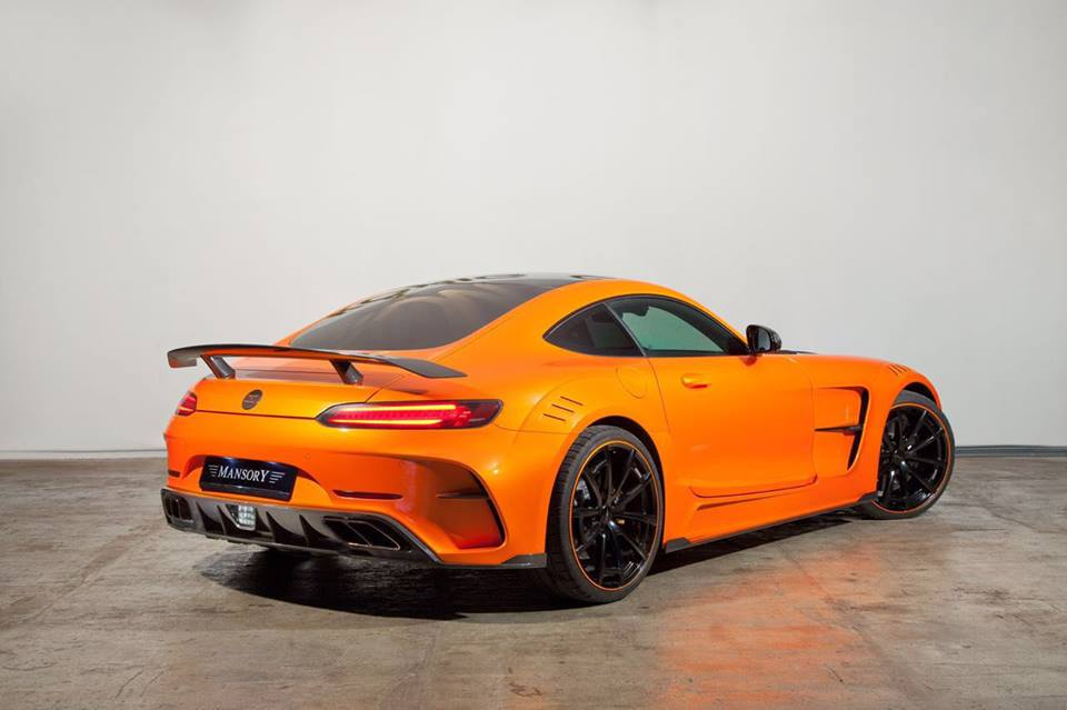 Eye candy orange mansory mercedes amg gt for Mercedes benz orange