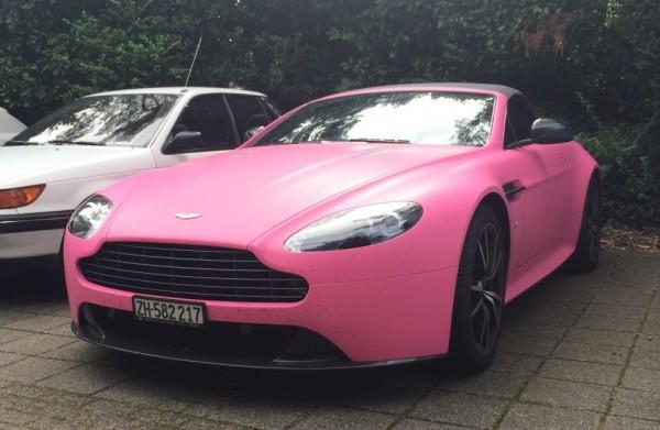 Pink Aston Martin Vantage 0 600x391 at Guy Turns Up at School in Pink Aston Martin Vantage