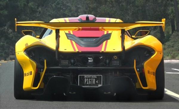 p1 gtr street 600x366 at McLaren P1 GTR Filmed Cruising in California
