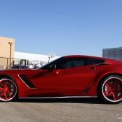 satin red corvette 10 175x175 at Custom Corvette Z06 in Satin Red Chrome