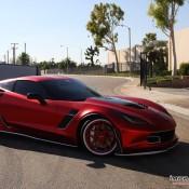satin red corvette 11 175x175 at Custom Corvette Z06 in Satin Red Chrome