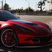 satin red corvette 12 175x175 at Custom Corvette Z06 in Satin Red Chrome