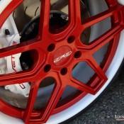 satin red corvette 15 175x175 at Custom Corvette Z06 in Satin Red Chrome