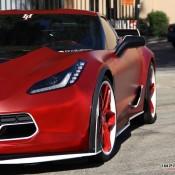 satin red corvette 2 175x175 at Custom Corvette Z06 in Satin Red Chrome