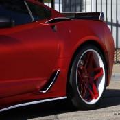 satin red corvette 3 175x175 at Custom Corvette Z06 in Satin Red Chrome