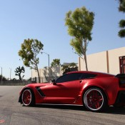 satin red corvette 4 175x175 at Custom Corvette Z06 in Satin Red Chrome