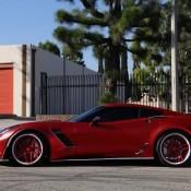 satin red corvette 5 175x175 at Custom Corvette Z06 in Satin Red Chrome
