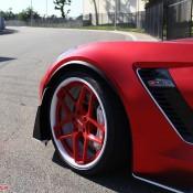 satin red corvette 7 175x175 at Custom Corvette Z06 in Satin Red Chrome