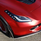 satin red corvette 8 175x175 at Custom Corvette Z06 in Satin Red Chrome
