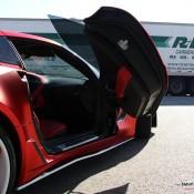satin red corvette 9 175x175 at Custom Corvette Z06 in Satin Red Chrome