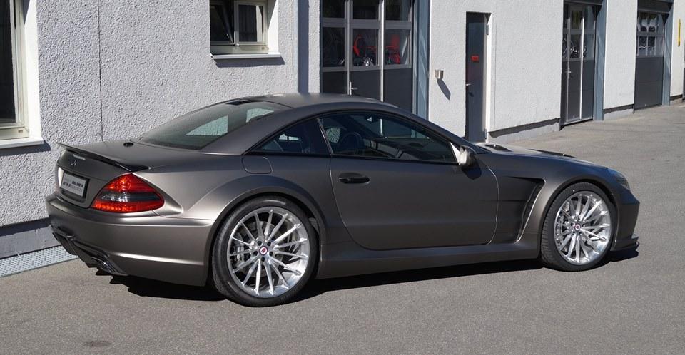 mercedes sl65 amg black series on hre wheels. Black Bedroom Furniture Sets. Home Design Ideas