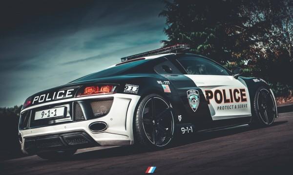 Audi R8 Police Car 0 600x360 at Audi R8 Police Car Prepared for ADAC